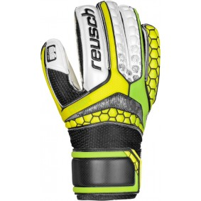 Fingersave Torwarthandschuhe - Reusch Torwarthandschuhe - Torwarthandschuhe junior - kopen - Reusch Re:Pulse SG Finger Support Easy Fit Junior grün/gelb